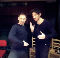 Domingo Ferrandis and Andrés Velencoso in the training with teacher Serge Nicolaï of Théâtre du Soleil, founded by Ariane Mnouchkine